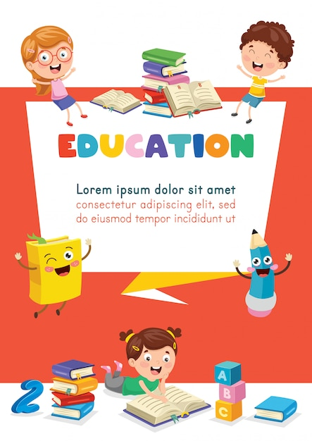 Children education Premium Vector