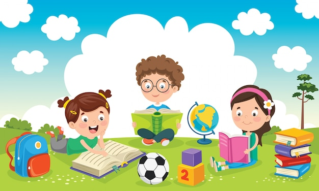 Children education Premium Vector