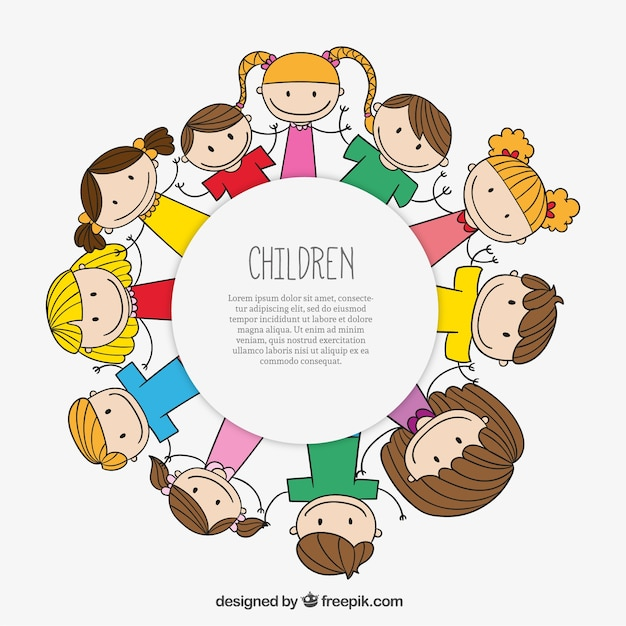 children label free vector - Download Free Kids Cartoon