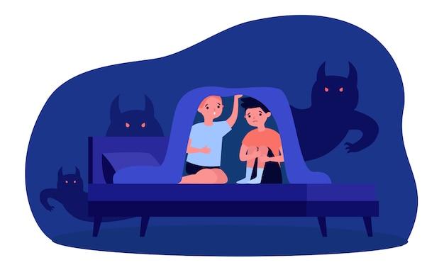 Детские кошмары и страхи Premium векторы