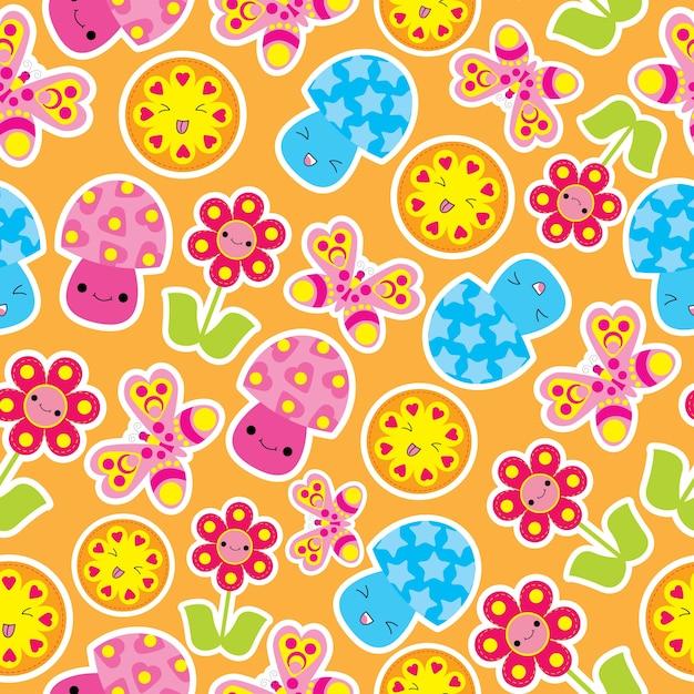 Children pattern design Free Vector