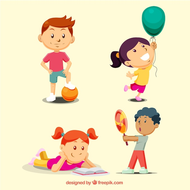 Children playing collection