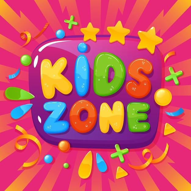 Иллюстрация плаката детской игровой Premium векторы