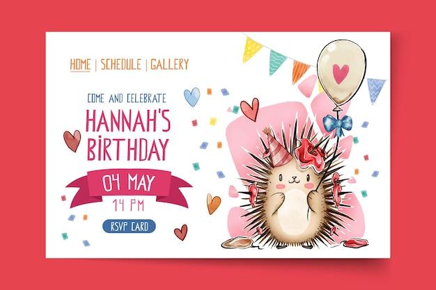 Pagina di destinazione del compleanno dei bambini Vettore gratuito