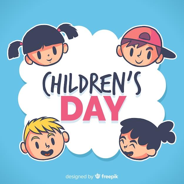 Children's day background Free Vector