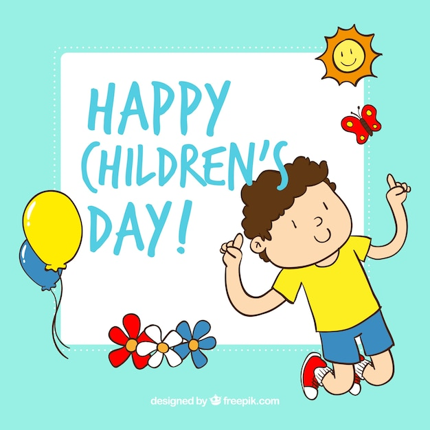 childrens day cartoon free vector - Download Free Kids Cartoon
