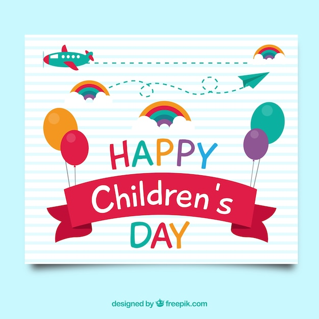 Kids s day cards ukrandiffusion children 39 s day greeting card vector free download m4hsunfo