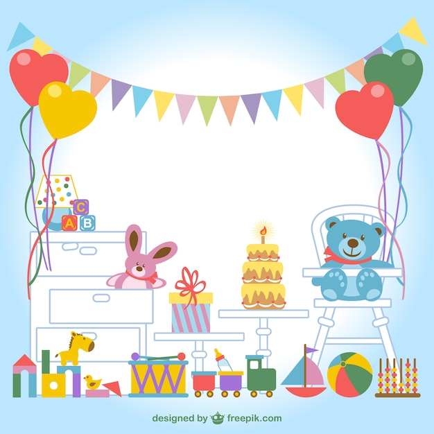 children s room vector Free Vector