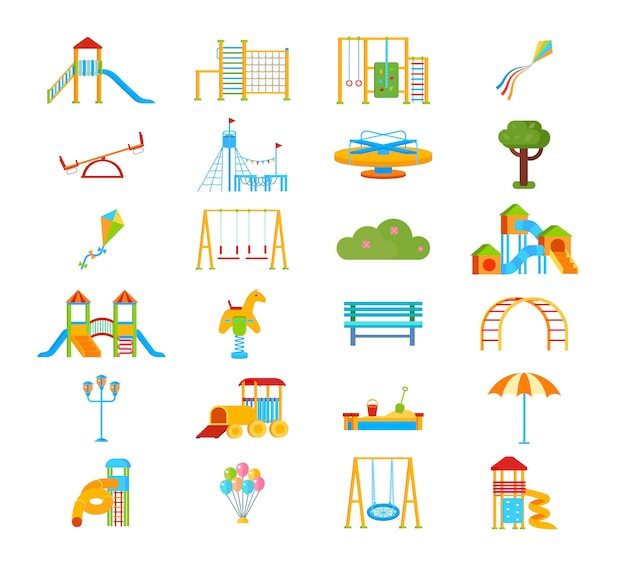 Childrens playground Free Vector