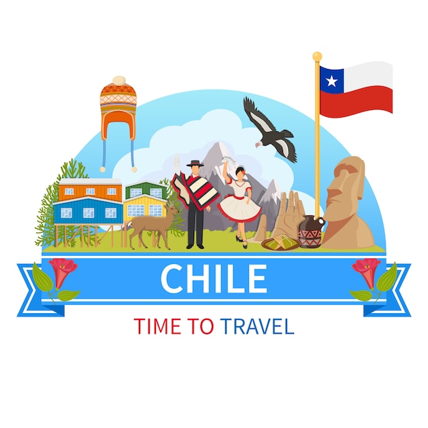 Chile composition Free Vector