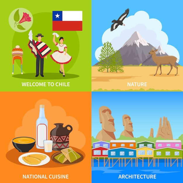 Chile design concept Free Vector