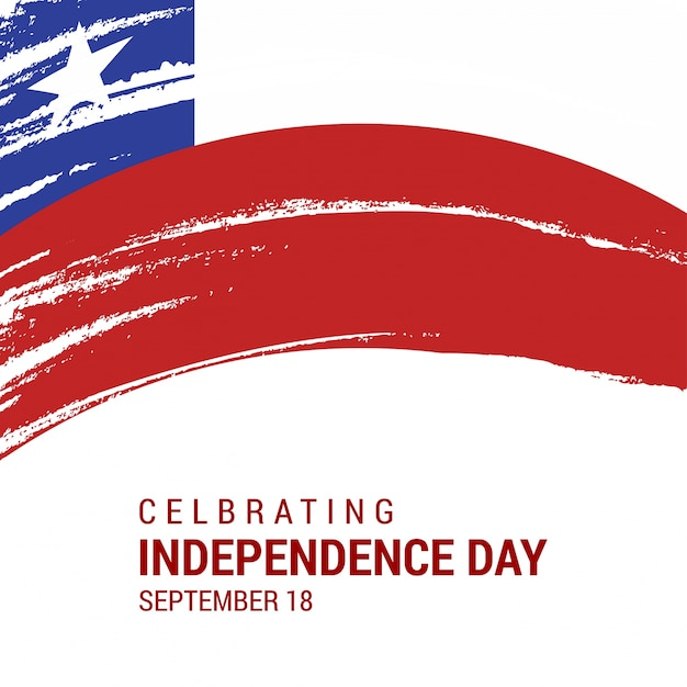 Chile independence day design Free Vector