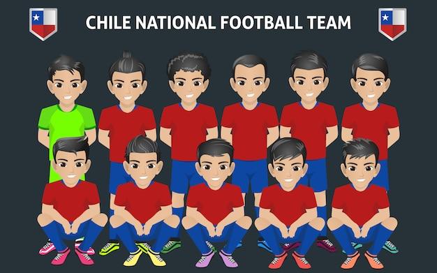 Chile national football team Premium Vector