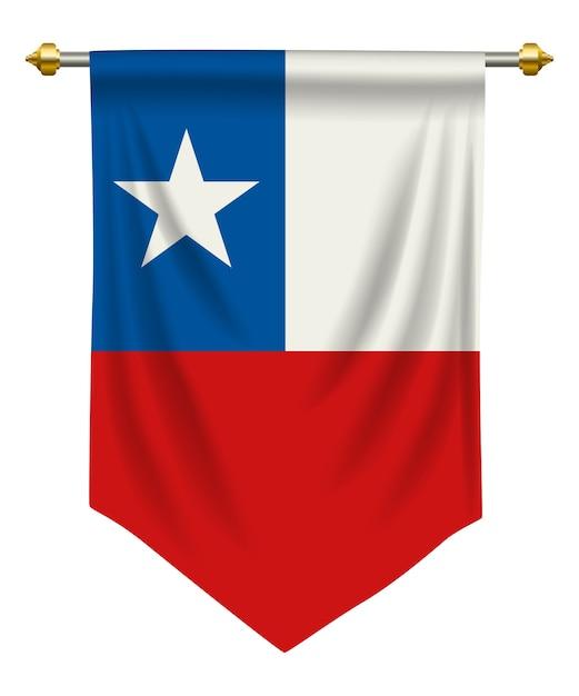 Chile pennant Premium Vector