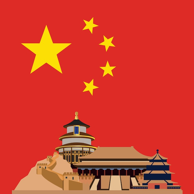 China background design Free Vector