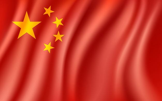 Premium Vector | China flag, waving chinese national flag background, illustration