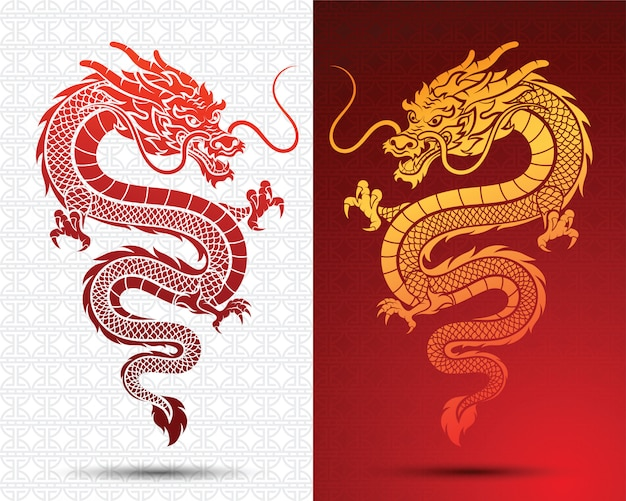 Premium Vector Chinese Dragon Flyer
