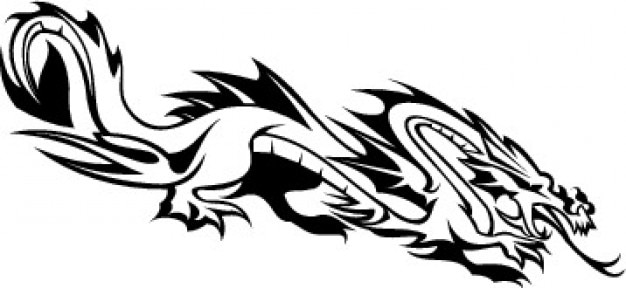 Chinese dragon snake template vector