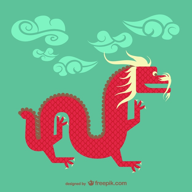 Chinese dragon vector Free Vector