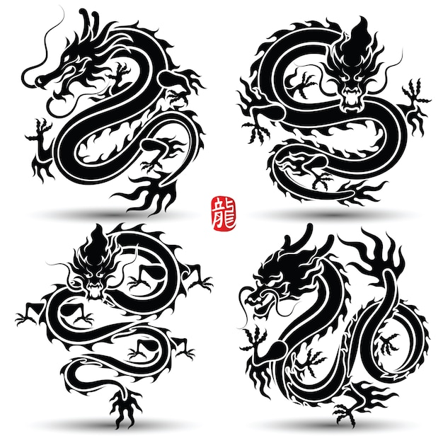 Chinese dragon Premium Vector