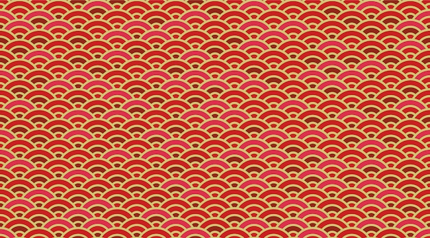 Chinese and japanese wave seamless wallpaper. Premium Vector