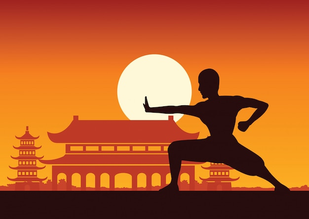 Chinese martial art Premium Vector