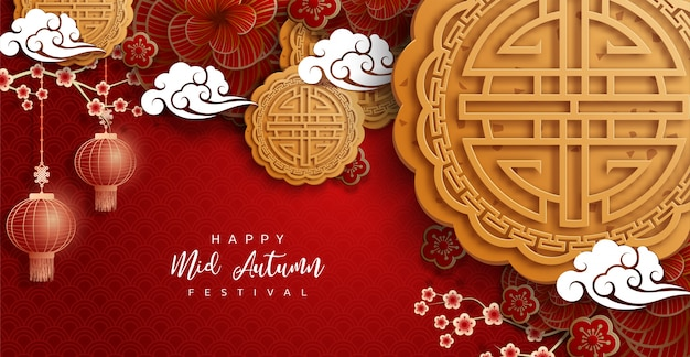 Chinese mid autumn festival background  the chinese