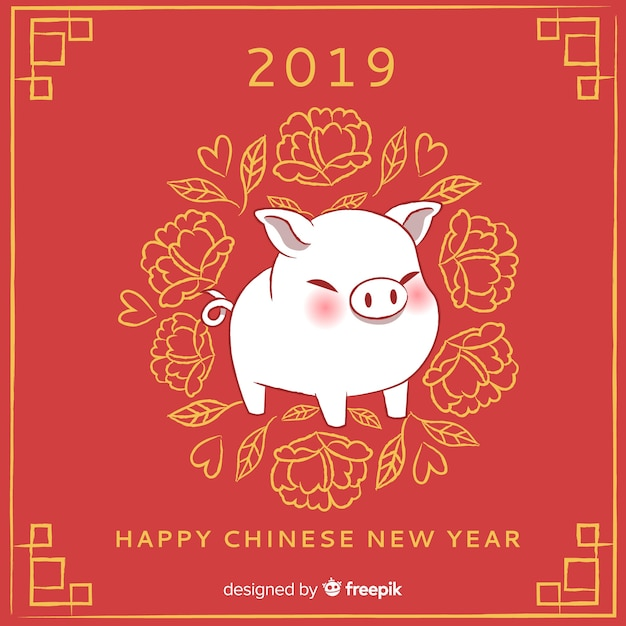 chinese new year 2019 vector free download