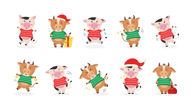 中国の旧正月2021年サインゴールドを保持している牛 Premiumベクター