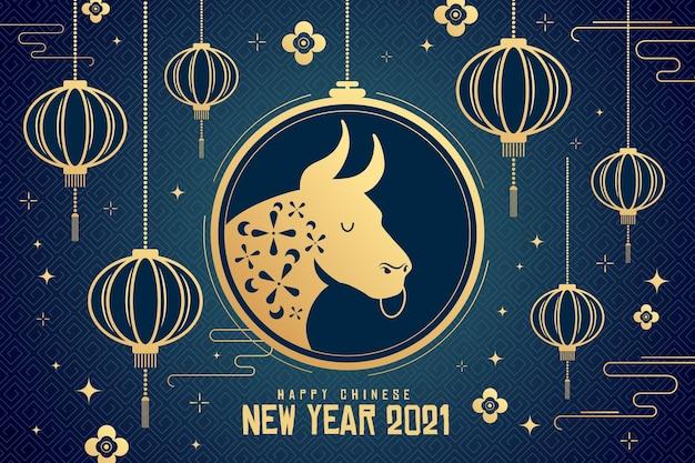 Китайский новый год 2021 Premium векторы