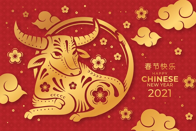 Chinese new year 2021 Premium Vector