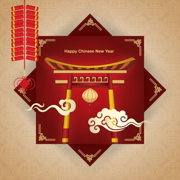 Chinese new year background design Vector | Free Download
