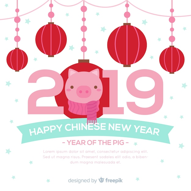 chinese new year background template free vector