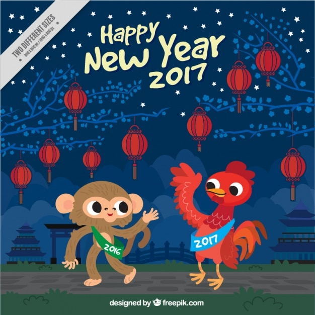 Year of the rooster for monkey