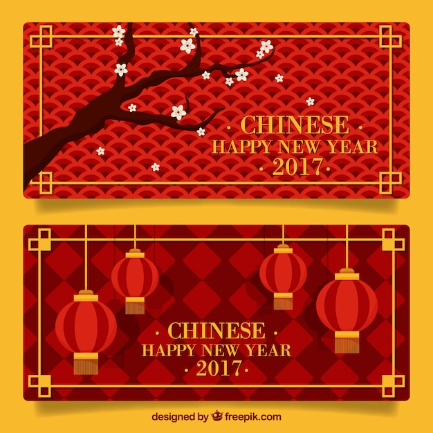 chinese new year banners with geometric backgrounds stock images page everypixel