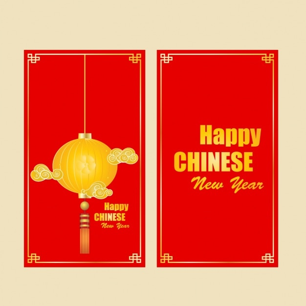 chinese new year brochure template free vector