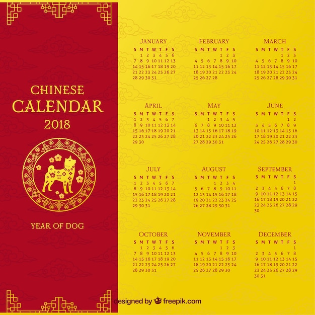 chinese new year calendar template free vector - Chinese New Year Calendar