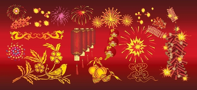 Chinese New Year Celebration Free Vector