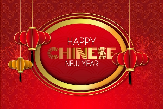 Chinese new year concept in paper style Free Vector