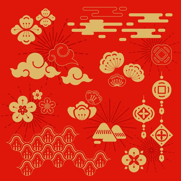 Chinese new year illustration Free Vector