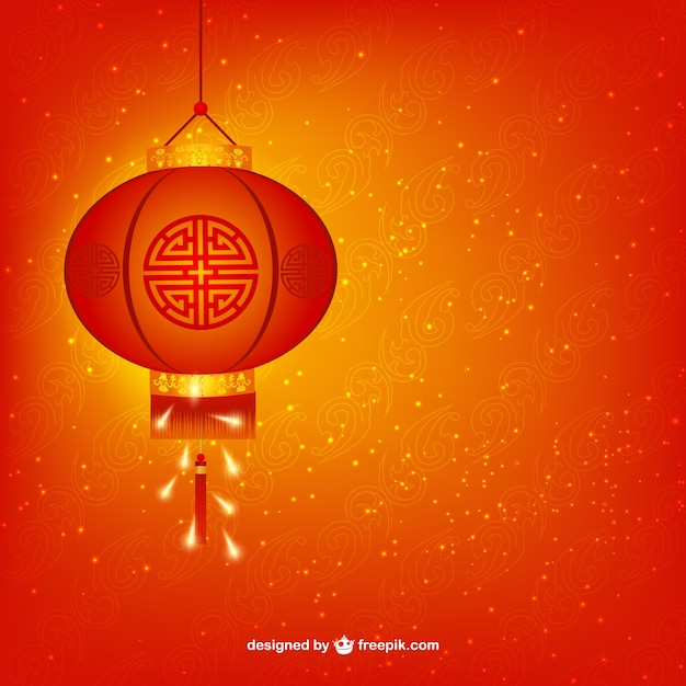 chinese new year lamp free vector