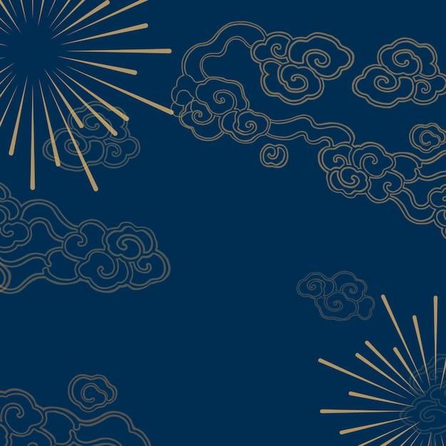 Chinese new year mockup illustration Free Vector