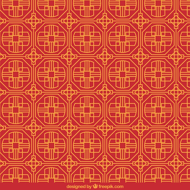 Chinese Pattern In Geometric Style Free Vector