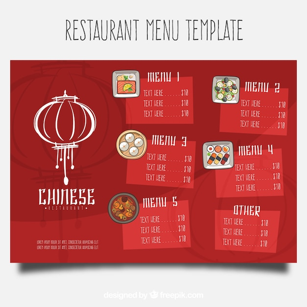 Chinese Food Menu Template Download