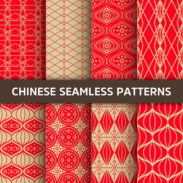 Chinese seamless pattern. Free Vector