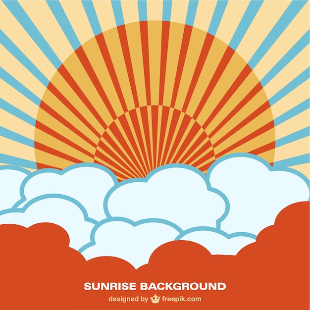 chinese style sunrise background vector free download rh freepik com