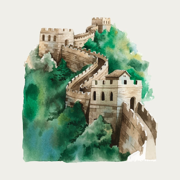 Chinese wall Free Vector