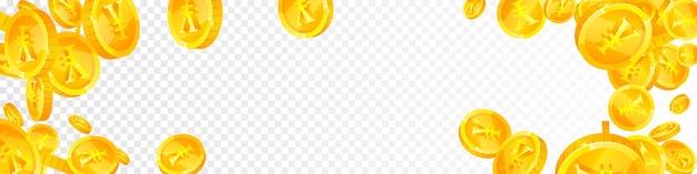 人民元の硬貨が下落。 Premiumベクター