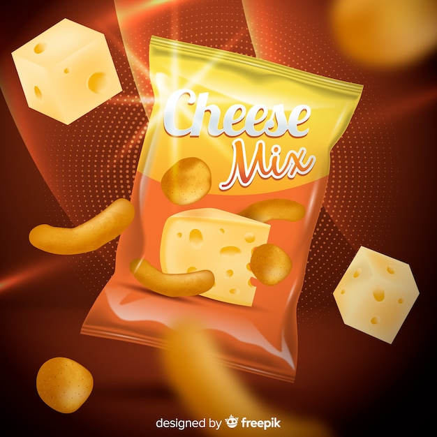 Chips ad template Free Vector