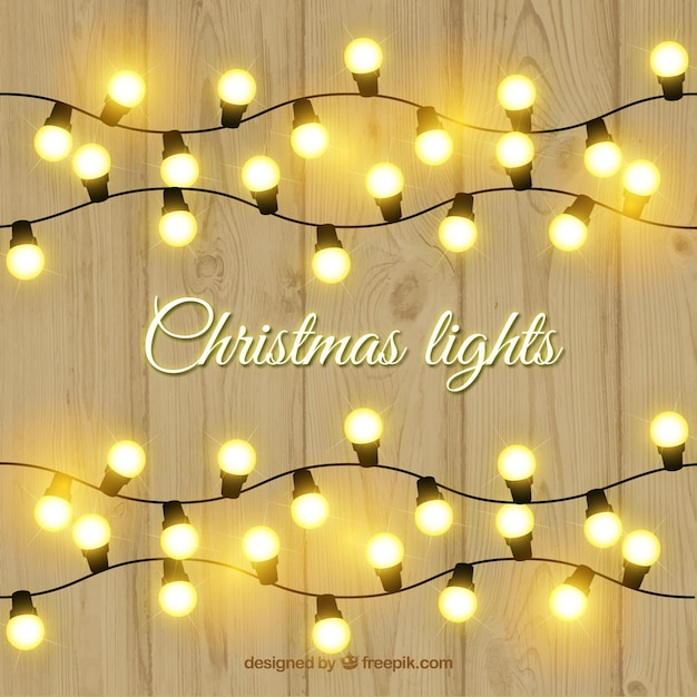 Chistmas lights Free Vector